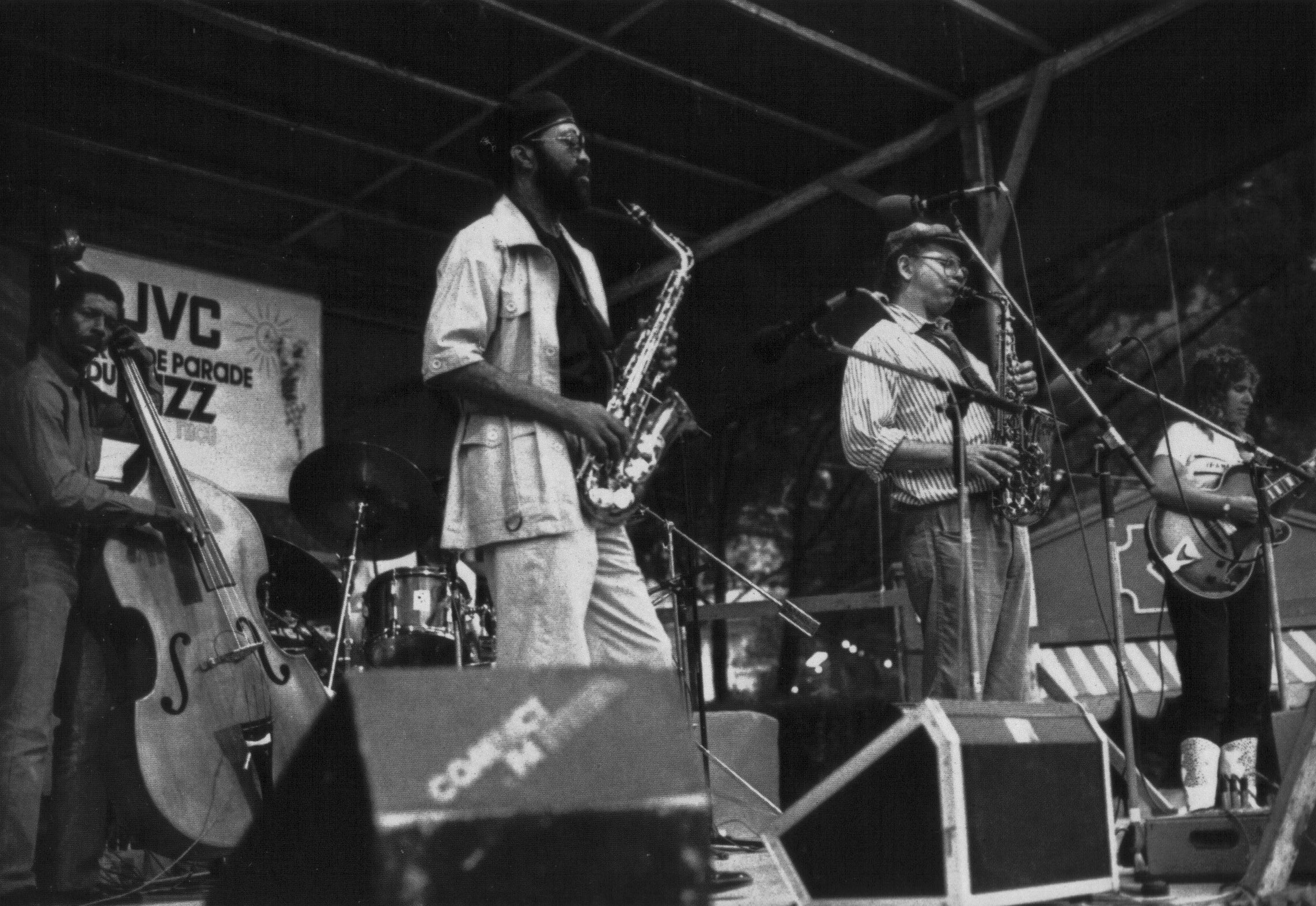 Emily with Richie Cole and Hank Crawford Quintet in Nimes, France 1987
